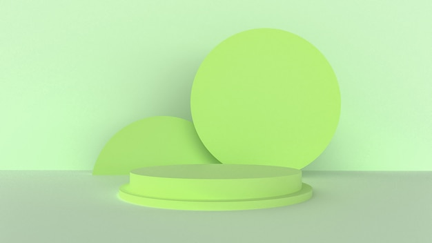 3d render, green, mint color with a minimal abstract concept.