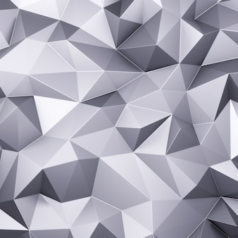 3d render grey triangle polygons abstract mosaic background