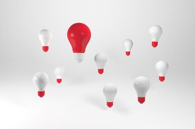 3d render group of light bulbs. having a great idea concept