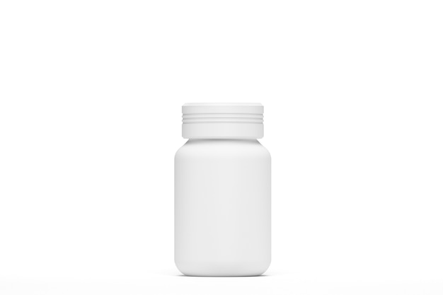 3d render. illustration. bottle of capsules mockup isolated with white background