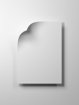 3d render image of blank sheet paper for adding product or text for commercial.3d render black copy space paper.