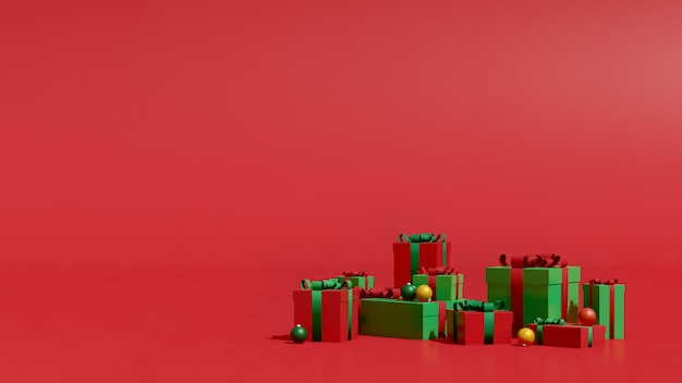 3d render image mock up podium with empty space for christmas and new yearproduct presentation