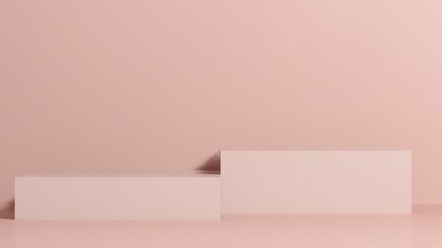 ピンクの背景の製品表示広告と3dレンダリング画像ピンクの表彰台