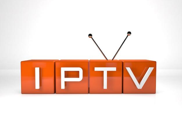 3d визуализация. iptv. интернет-телевидение. концепция технологии