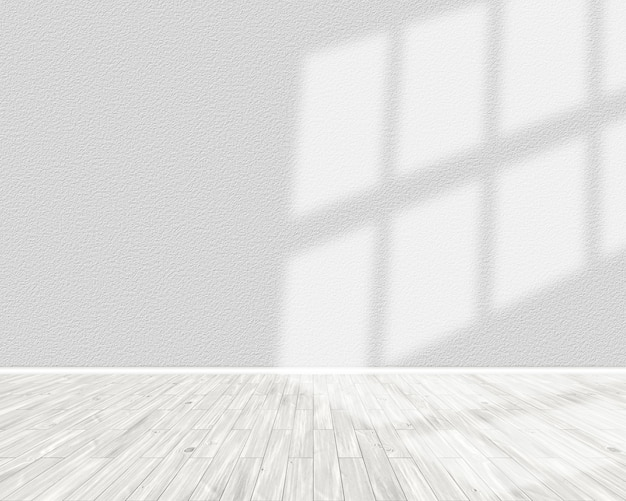 3d render of a light room interior with sun shining from the right