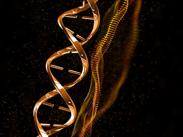 3d render of a medical dna strand background