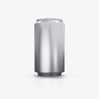 3d render metal cans