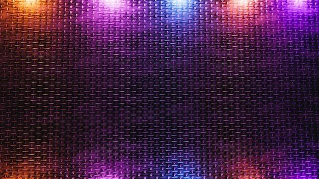 조명 효과와 3d 렌더링 금속 질감