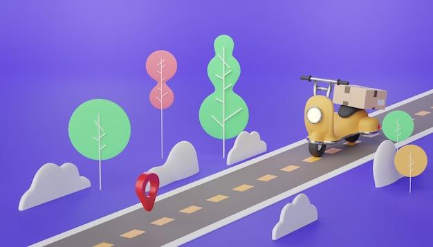 Доставка посылок на мини-скутерах по дороге и городу