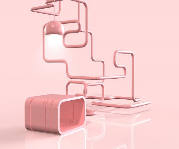3d render minimal fashion podium or stage background display