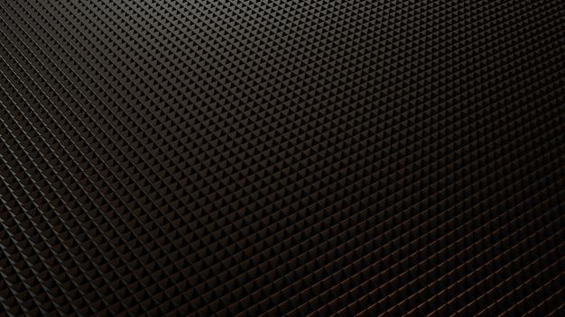 3d 렌더링 현대 삼각형 검은 배경