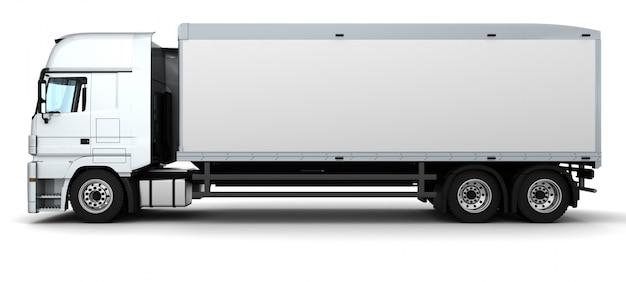 화물 배달 트럭의 3d 렌더링