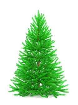 カラフルな装飾品が分離されたクリスマスツリーの3dレンダリング