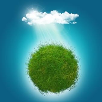 3d визуализация травянистых glboe