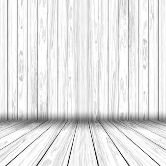 グランジスタイルの木製の部屋のインテリアの3dレンダリング