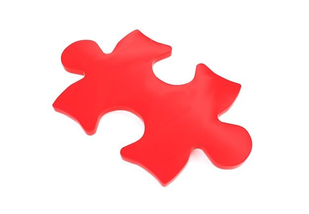 흰색 배경에서 퍼즐의 3d 렌더링