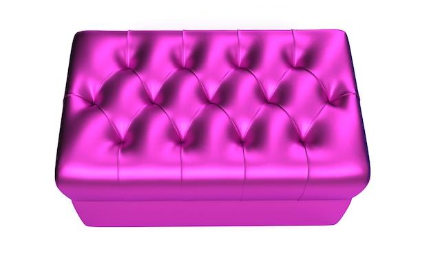 3d визуализация шелковой королевской подушки с золотыми кисточками на белом фоне