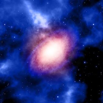星雲と宇宙背景の3dレンダリング