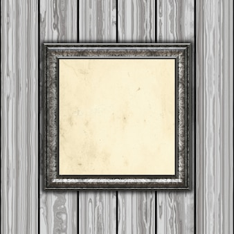 3d визуализации винтажной рамы на деревянном фоне