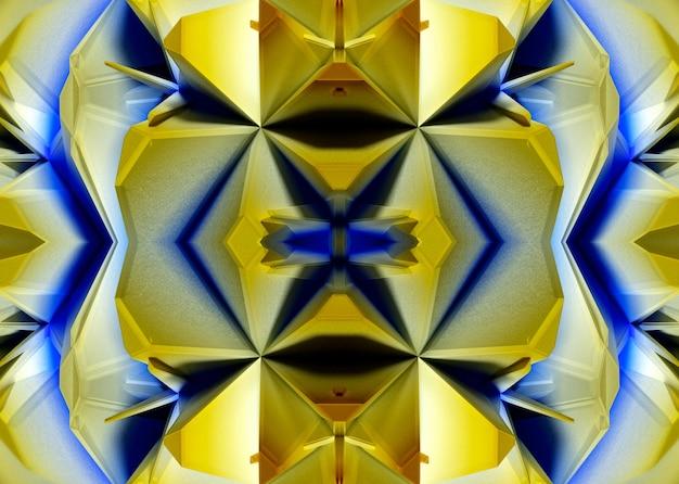 エイリアンフラクタル対称万華鏡の花の一部と抽象芸術の3d背景の3dレンダリング