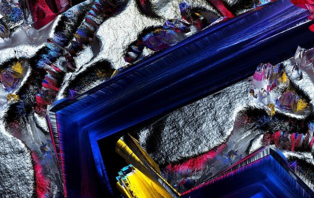 ラフなグランジの損傷した金属の一部とシュールな3d背景テクスチャの抽象芸術の3dレンダリング