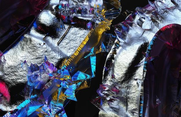 거친 그루지 손상된 암석의 일부가 있는 초현실적인 3d 배경 질감의 추상 예술의 3d 렌더링