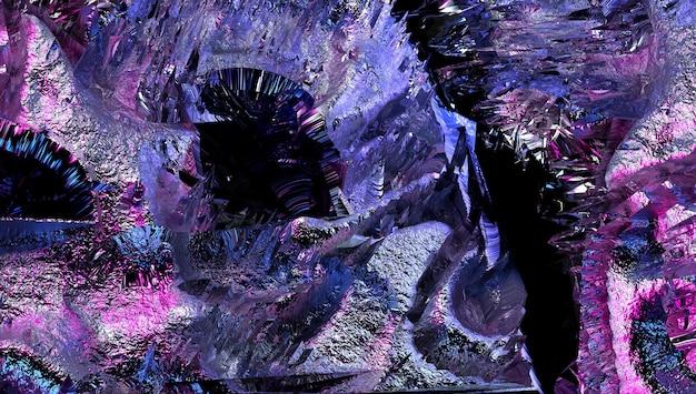 粗いグランジの損傷した表面の一部を持つシュールな3d背景テクスチャの抽象芸術の3dレンダリング