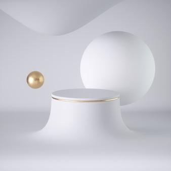 3d визуализация абстрактных белых футуристических плавающих шаров
