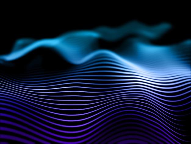 3d визуализация абстрактного фона с плавными линиями