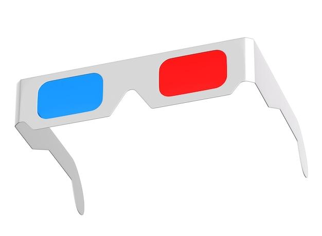 입체 안경 절연 벽의 3d 렌더링입니다.