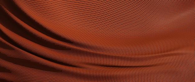 갈색 천의 3d 렌더링입니다. 무지개 빛깔의 홀로그램 호일. 추상 미술 패션 배경입니다.