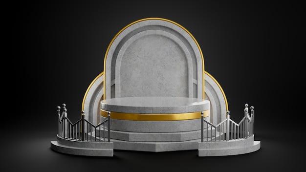 제품 표시를위한 콘크리트 연단의 3d 렌더링