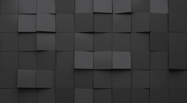 3d визуализация темного абстрактного рисунка геометрии.