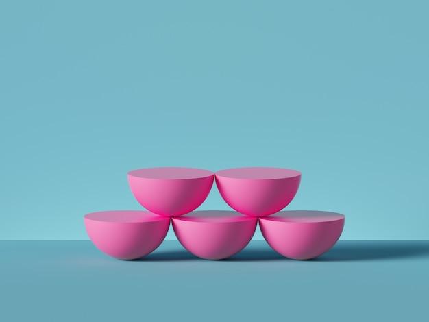 3d визуализация геометрических фигур изолированы Premium Фотографии