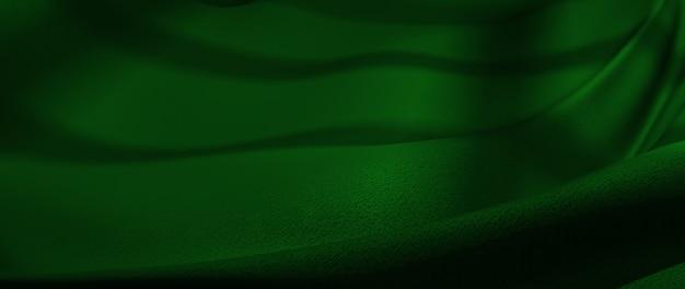 3d визуализация зеленой ткани. радужная голографическая фольга. абстрактное искусство моды фон.