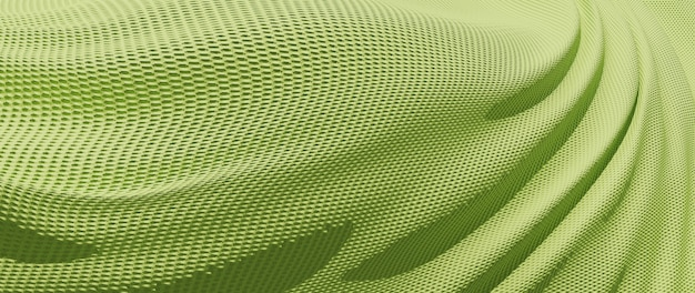 녹색 천의 3d 렌더링입니다. 무지개 빛깔의 홀로그램 호일. 추상 미술 패션 배경입니다. 프리미엄 사진