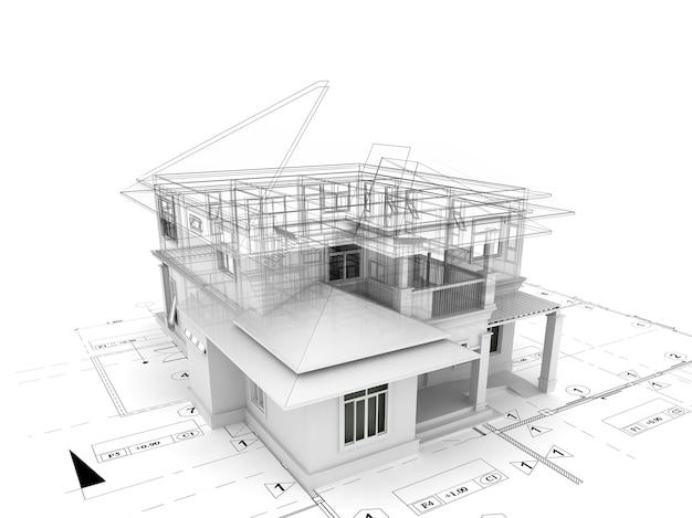 3d визуализация дома на плане