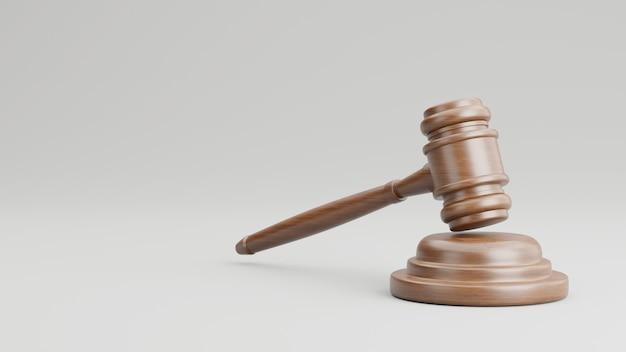 3d визуализация судьи молоток деревянный