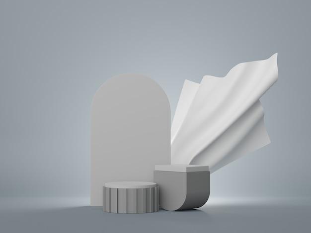 モックアップと製品プレゼンテーションのための最小限のディスプレイ表彰台デザインの3dレンダリング