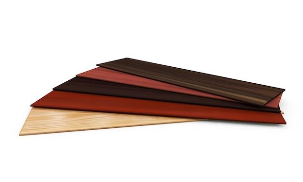 3d-рендеринг сборки плитки пола из соснового дерева
