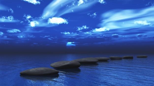3d визуализация ступеней через океан