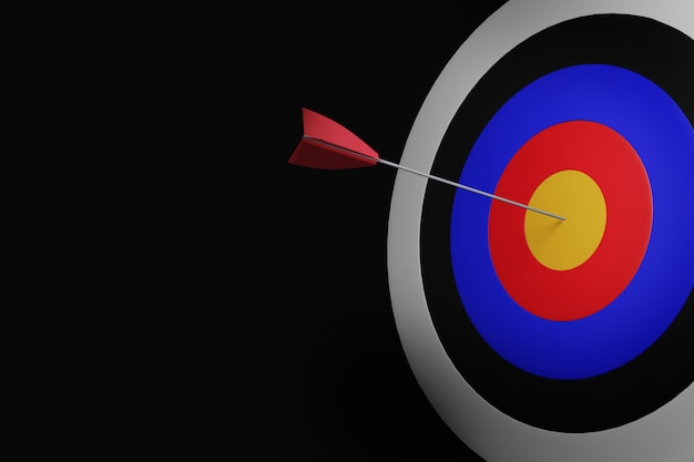 3d визуализация целевой доски со стрелками