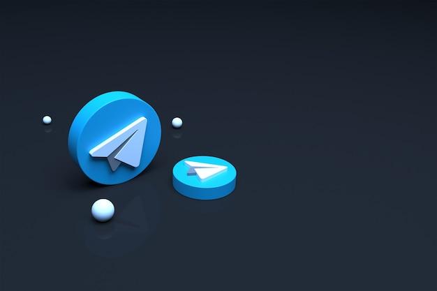3d визуализация логотипа telegram