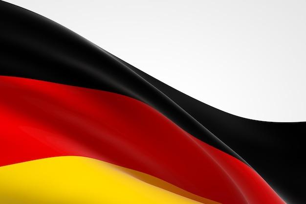 흔들며 독일 국기의 3d 렌더링입니다.