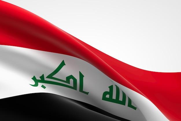 흔들며 이라크 국기의 3d 렌더링입니다.