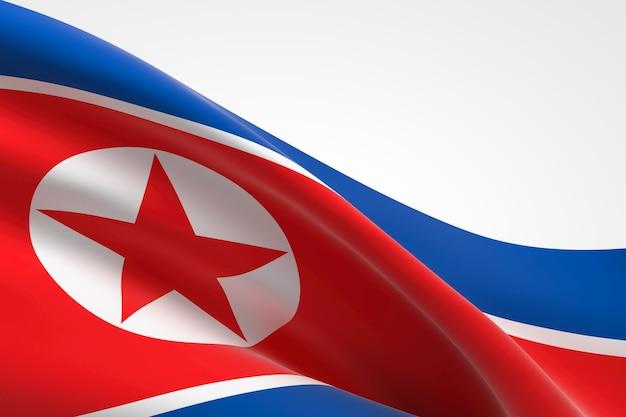 흔들며 한국 국기의 3d 렌더링입니다.