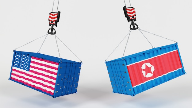 미국 수입 tarrifs의 3d 렌더링