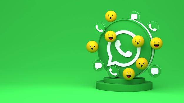 복사 공간이 있는 whatsapp의 3d 렌더링