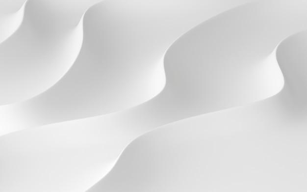 白の抽象的なパターンの3 dレンダリング。