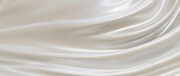 흰색 천의 3d 렌더링입니다. 추상 미술 패션 배경입니다.